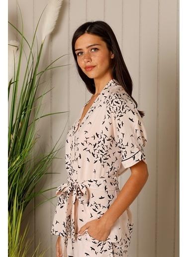 Hays Huma Vegan Kadın Cupro Şortlu Pijama Takımı Kiremit